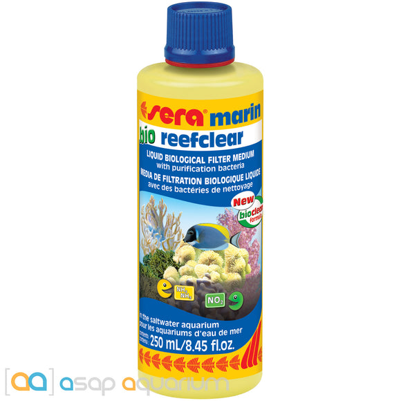 Sera Marin Bio Reefclear 250 mL (8.45 fl. oz.) Liquid Marine Bio Filter Medium - ASAP Aquarium