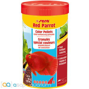 Sera Red Parrot Special granulate for parrot cichlids 250ml / 80g fish food - ASAP Aquarium