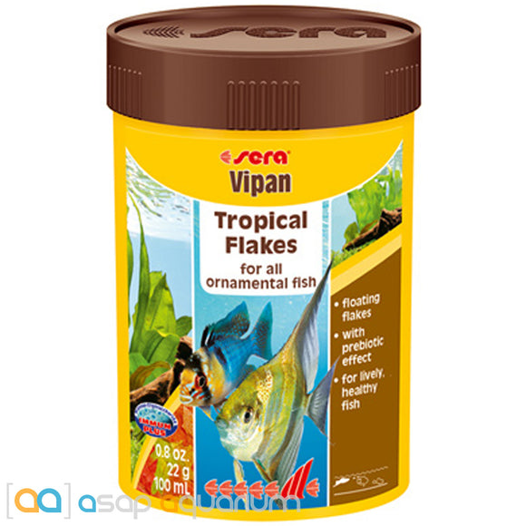 Sera Vipan 0.8 oz (100 mL) Tropical Fish Food Flakes - ASAP Aquarium