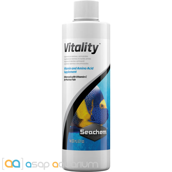 Seachem Vitality 250 mL Marine Fish Vitamin and Amino Acid Supplement - ASAP Aquarium