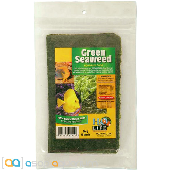 V2O Foods Natural Green Seaweed 16g (12 sheets) - ASAP Aquarium