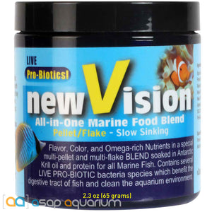 V2O Foods New Vision All-In-One Marine Food Blend 2.3oz Fish Food - ASAP Aquarium