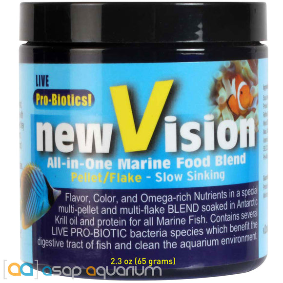 V2O Foods New Vision All-In-One Marine Food Blend 2.3oz Fish Food