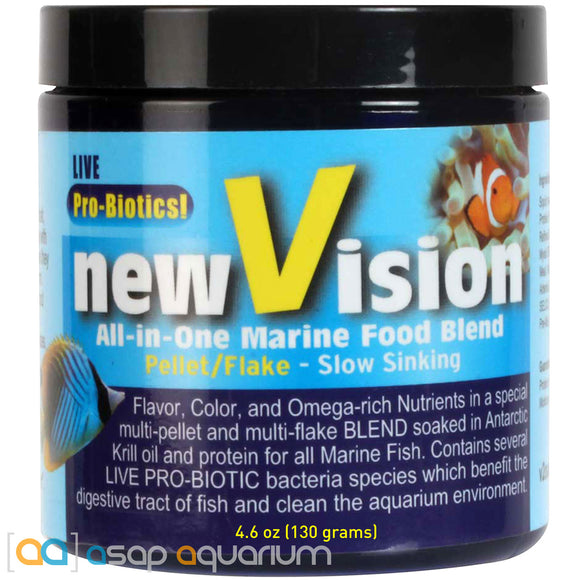 V2O Foods New Vision All-In-One Marine Food Blend 4.6oz Fish Food - ASAP Aquarium