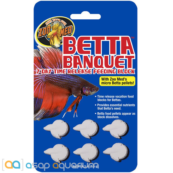 Zoo Med Betta Banquet 7 Day Betta Feeder 6 Tablets - ASAP Aquarium