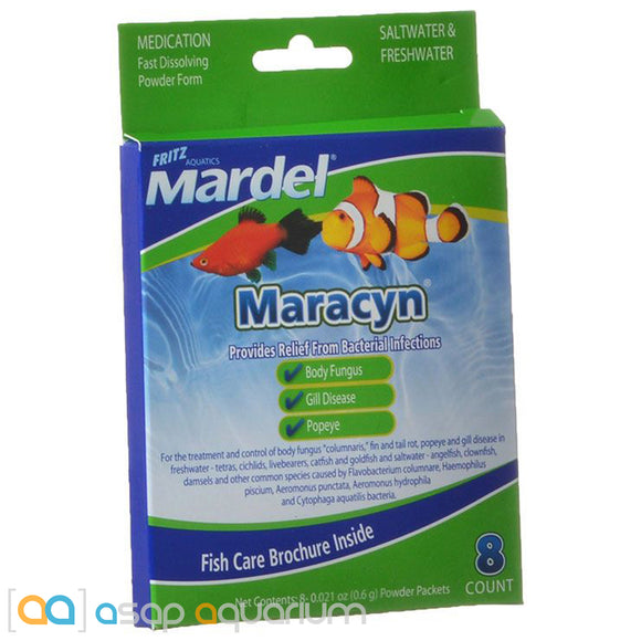 Mardel Maracyn Antibacterial Aquarium Medication Powder 8 Count