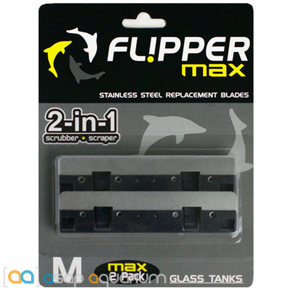 Flipper Max Stainless Steel Replacement Blades (2 pack) - ASAP Aquarium