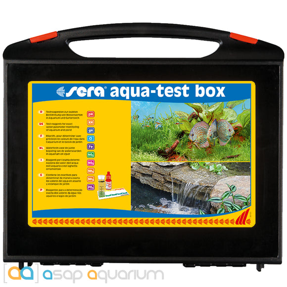 Sera Freshwater Aqua Test Box - USA Version (with Chlorine Test)