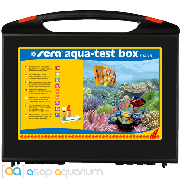 Sera Marin Aqua Test Box Saltwater Multi Test Kit - ASAP Aquarium