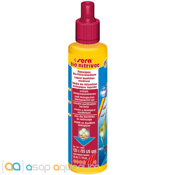 Sera Bio Nitrivec Biofilter Liquid 50 ml (1.7 oz.) - ASAP Aquarium