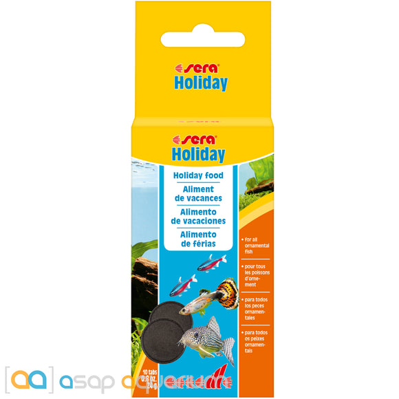 Sera Holiday Vacation Fish Feeding Tablets 10 Tablets - ASAP Aquarium
