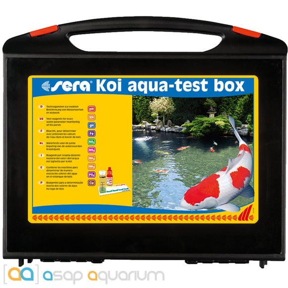 Sera Koi Aqua Test Box Pond Multi Test Kit - ASAP Aquarium