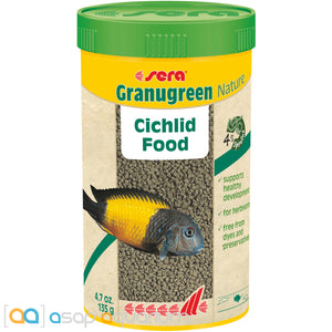 Sera Granugreen Nature Cichlid Fish Food Pellets 250mL