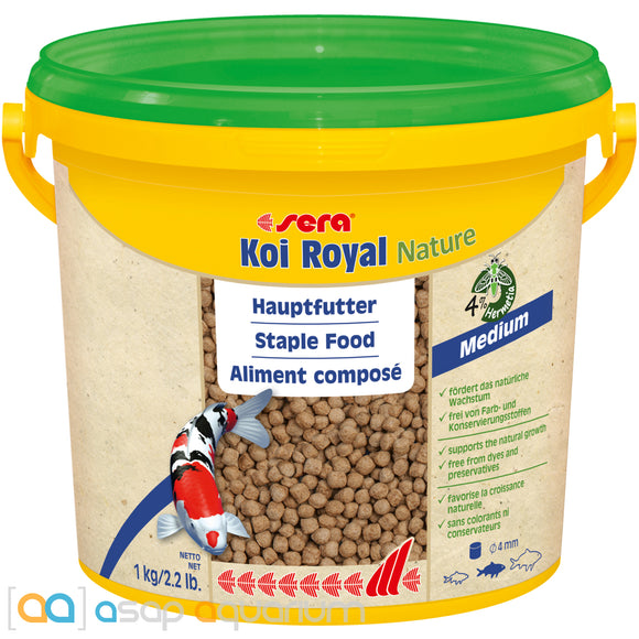 sera Koi Royal Nature Medium 3800mL 4mm Pellets