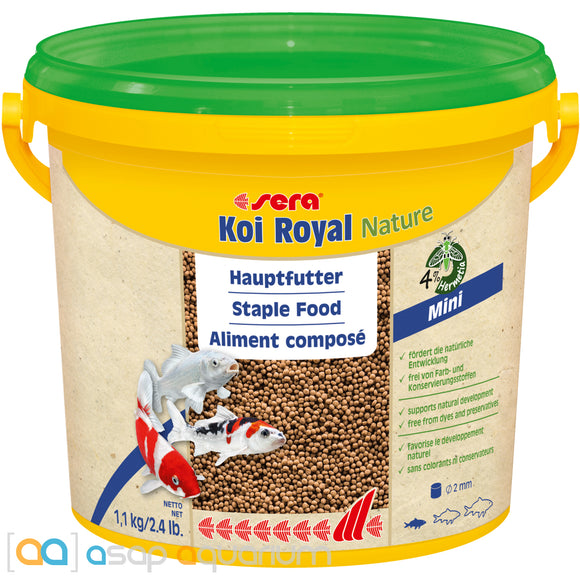 sera Koi Royal Nature Mini 3800mL 2mm Pellets
