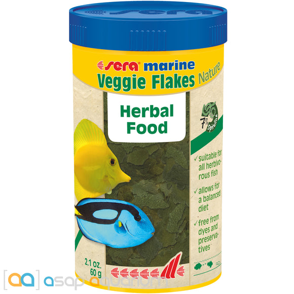 Sera Marine Veggie Flakes Nature 250mL