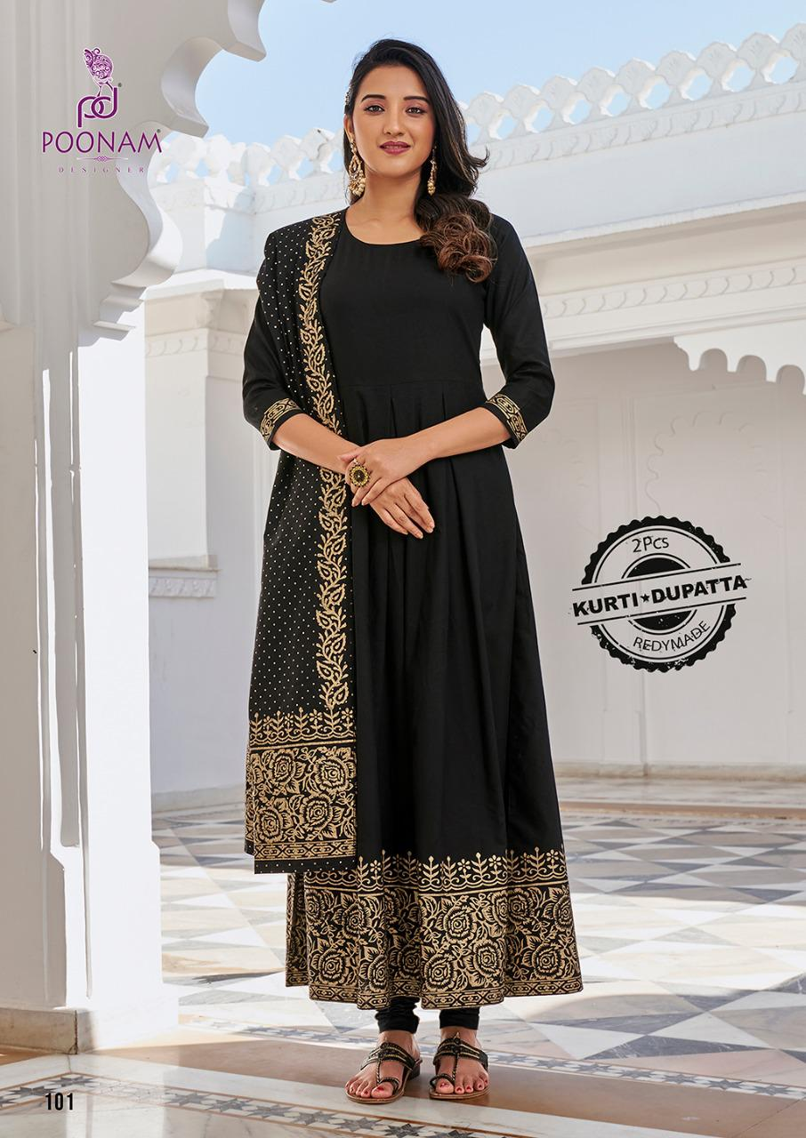 Black colour kurti-dupatta  PK101