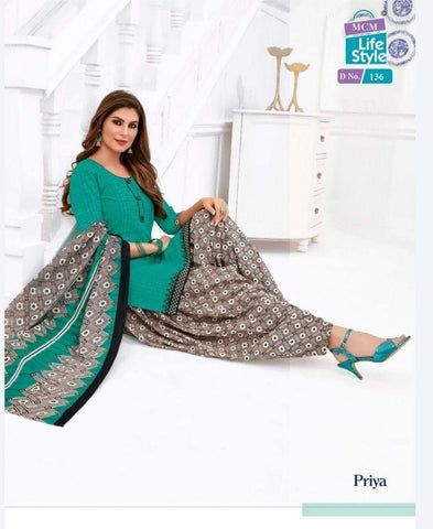 Blue with Gray readymade patiala Suit MC136