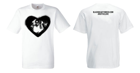 Kid's Black Beauty Breed Rottie Love (Heart) T-Shirt