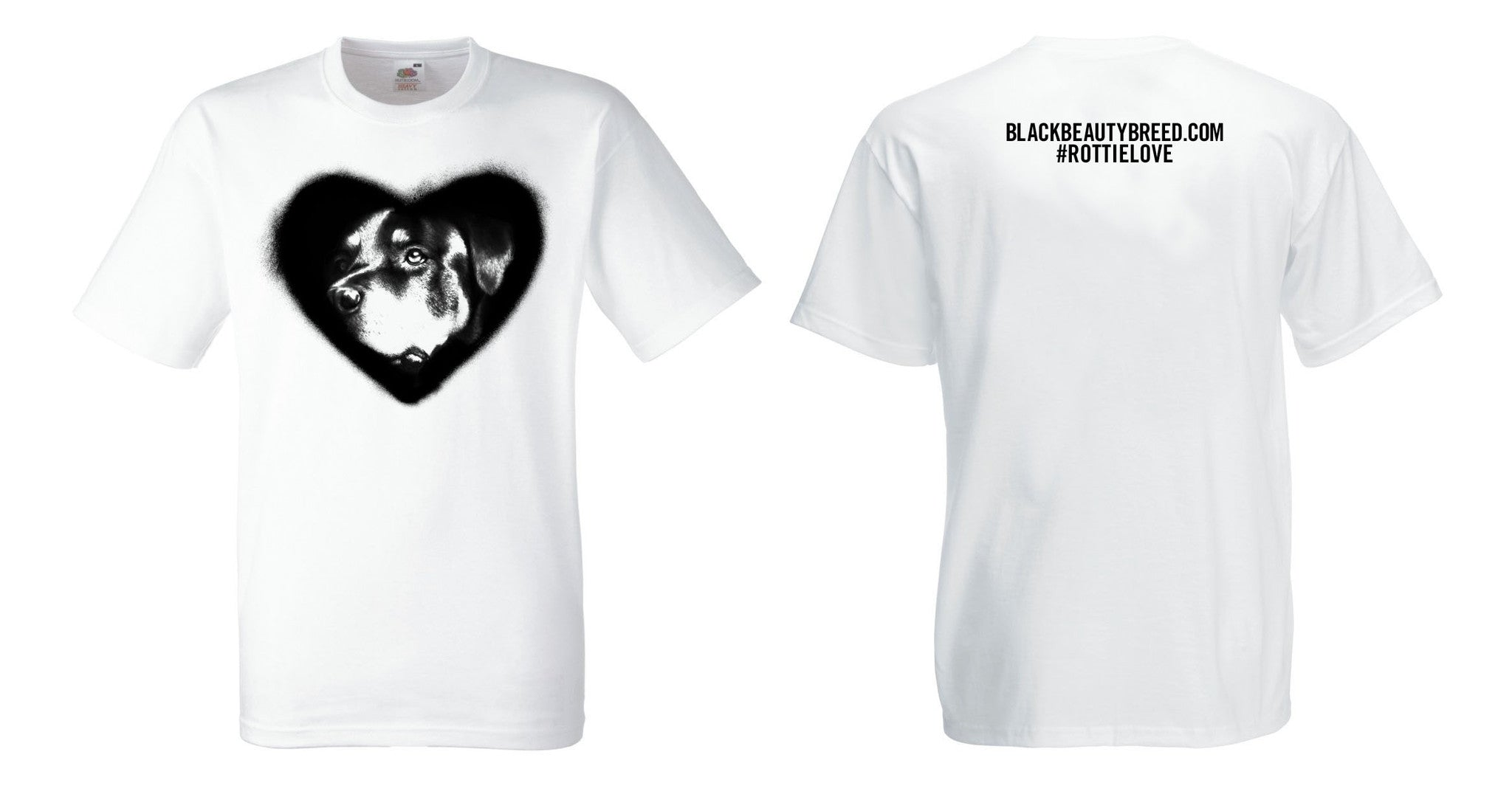 Women's Rottie Love (Heart) T-Shirt