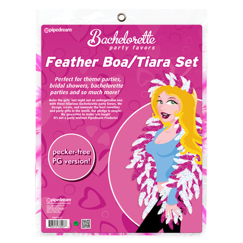 BACHELORETTE FEATHER BOA/TIARA SET
