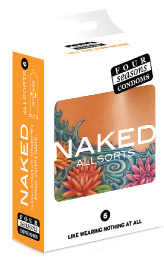 Naked Allsorts Condoms 6 Pack - Adults Dreams