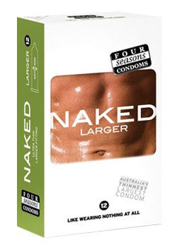 Naked Larger Condoms - Adults Dreams