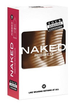 Naked Ribbed Condoms 12 Pack - Adults Dreams