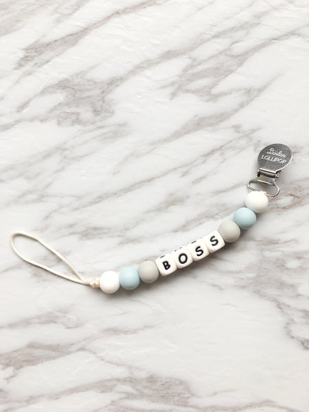 Teething Pacifier Clip | Boss Pacifier Clip