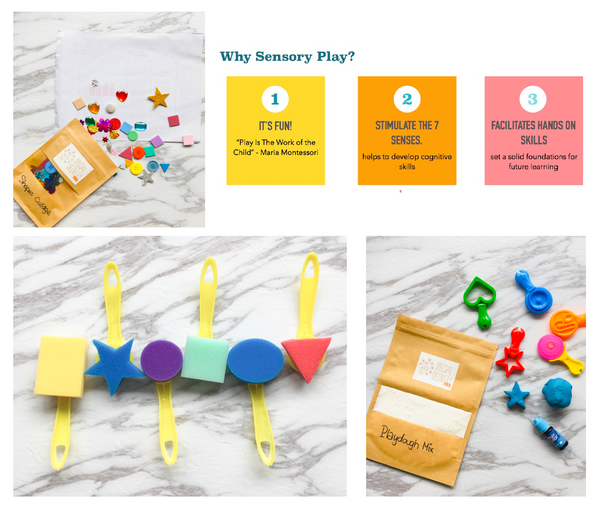 Sensory Play Kit Mini | The Shapes