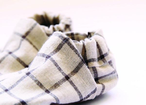 Baby shoes | Checkers linen classic slip