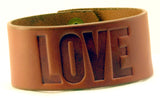 "Custom Branded Cosmic Leather IMPRESSION BRACELET - WBB - Wide 1 1/4"" - ONE WORD"