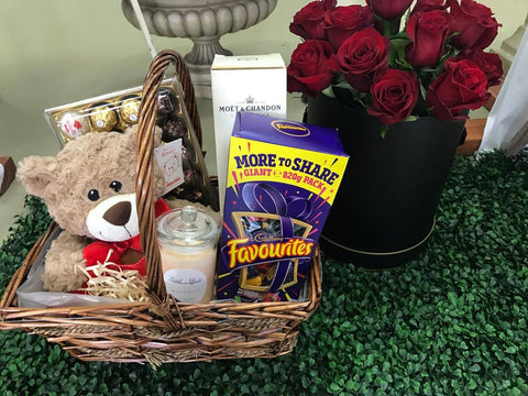 4 - Seduction Hamper with 12 Red Roses
