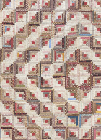 Log Cabin Patchwork Quilt - SOLD