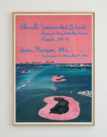 "Christo ""Surrounded Islands"" Poster 1990"