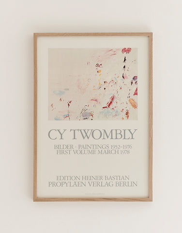 Cy Twombly Exhibition Poster 1978