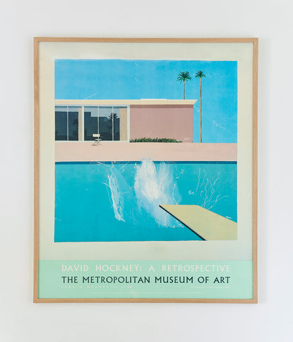 David Hockney Exhibition Poster 1988