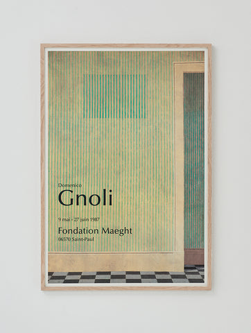 Domenico Gnoli Exhibition Poster - SOLD