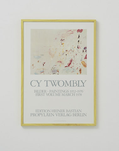 Cy Twombly Exhibition Poster 1978 - SOLD