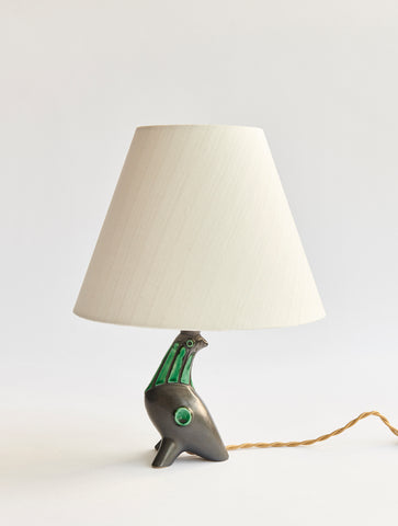 Ceramic Bird Lamp