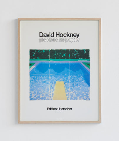 "David Hockney poster ""Piscines de Papier"""