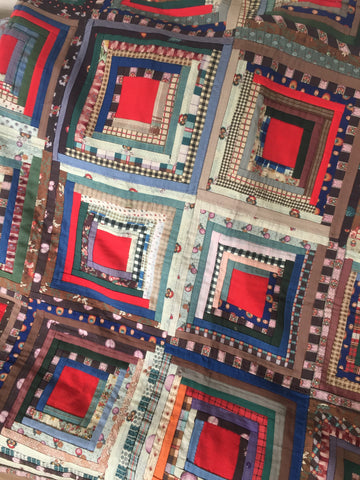 Antique Log Cabin Patchwork Quilt
