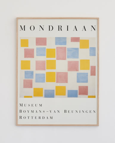 Mondrian Exhibition Poster 1986