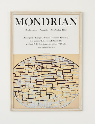 Mondrian Exhibition Poster 1980 - SOLD