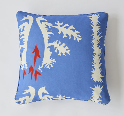 Cotton/linen pillow - Blue