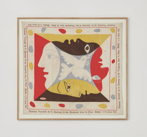 Pablo Picasso Youth Festival Scarf 1951 - SOLD
