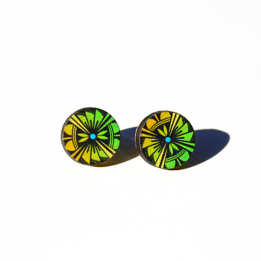 """Down To Earth"" Post Earrings"