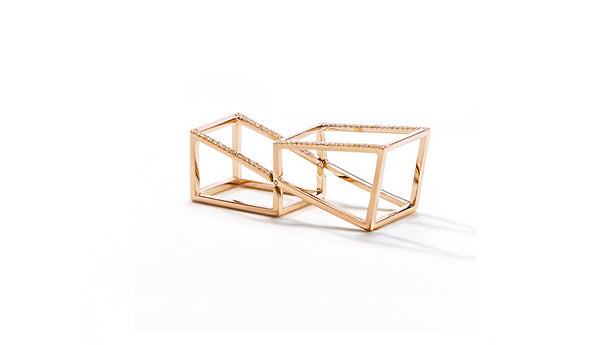 Sophie Birgitt Jewellery CUBIC HALO 18K Rose Gold