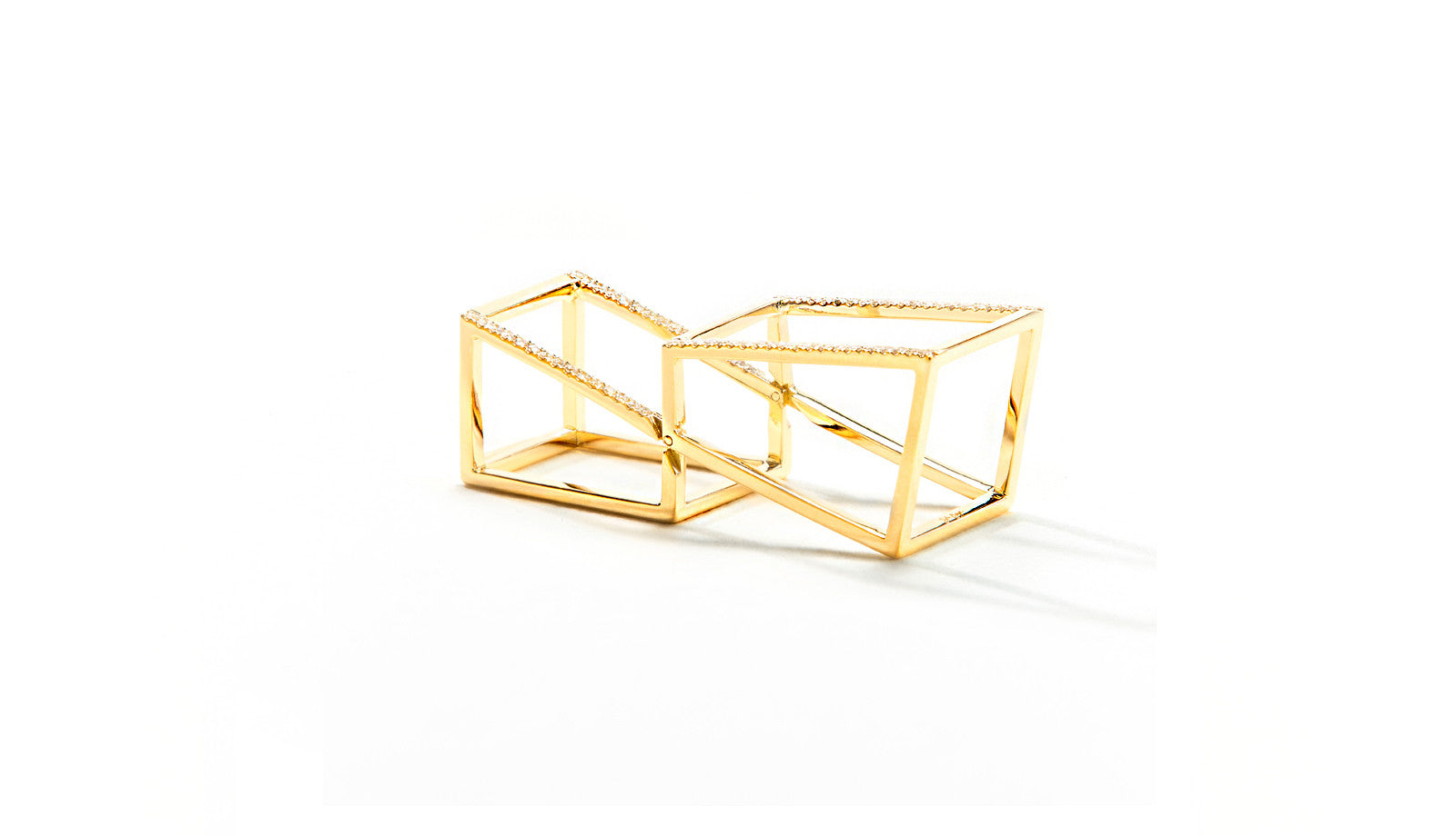 Sophie Birgitt Jewellery CUBIC HALO 18K Yellow Gold