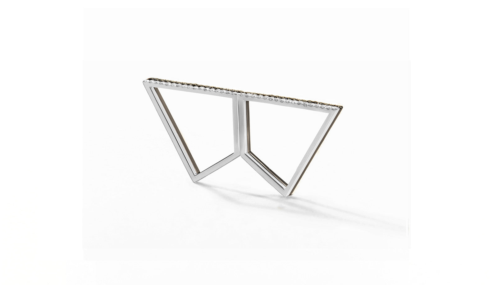 Sophie Birgitt Jewellery DOUBLE REFLECTION 18K Gun Metal Black & White Gold (less diamonds)